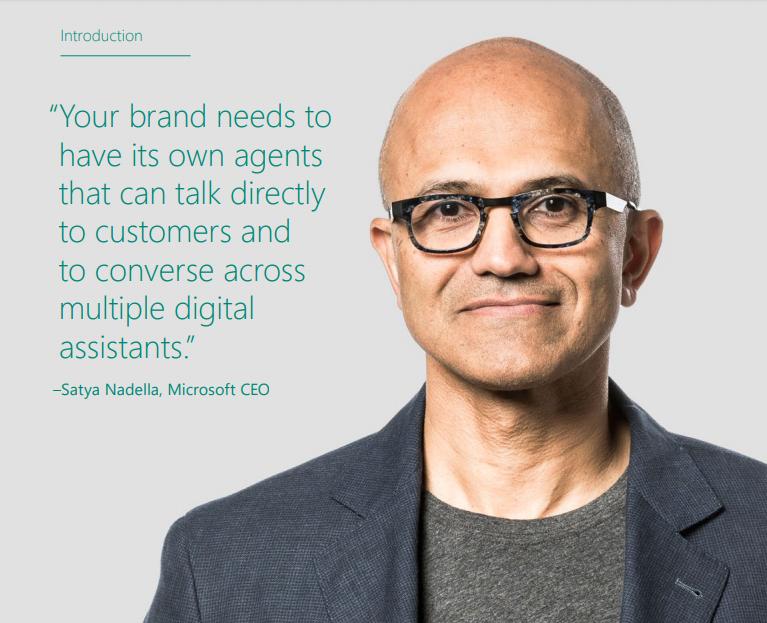 Il CEO di Microsoft, Satya Nadella, afferma che i brand dovranno dotarsi di assistenti digitali