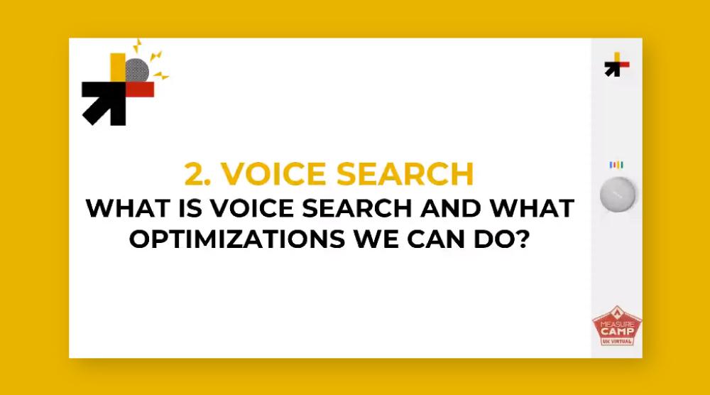Voice Search - Aurora Zotto al MeasureCamp UK 2021